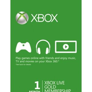 1 Month Xbox Live Gold Xbox One/360 - Download Code