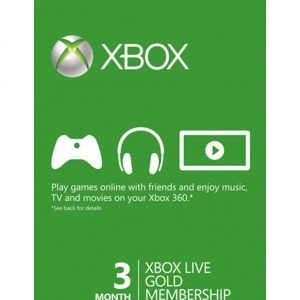 3 Month Xbox Live Gold Xbox One-360 – Download Code