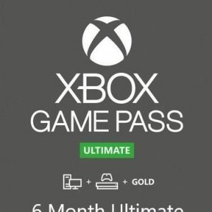 6 Month Game Pass Ultimate With Xbox Live