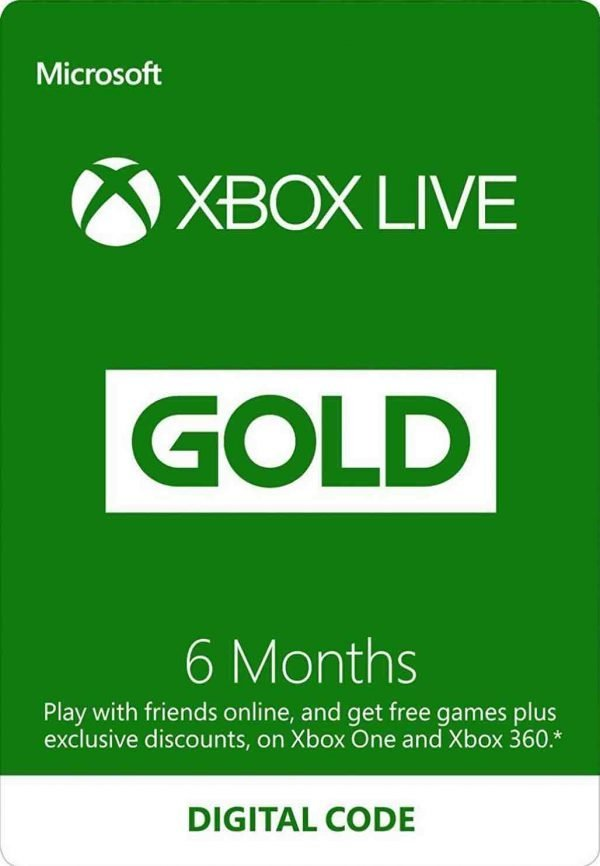6 Month Xbox Live Gold