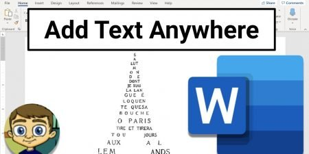 Add Text Anywhere in Microsoft Word