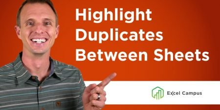 Compare Two Sheets for Duplicates with Conditional Formatting
