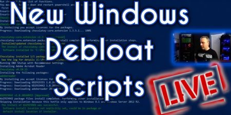 Creating New Windows 10 Debloat Scripts for You