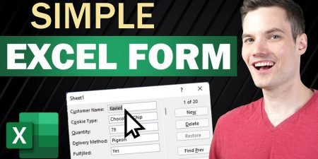 How to Create Simple Excel Form for Data Entry