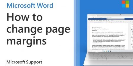 How to adjust page margins in a Word document