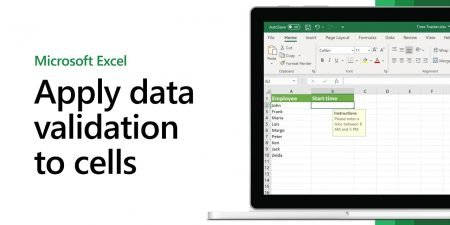 How to apply data validation to cells in Microsoft Excel