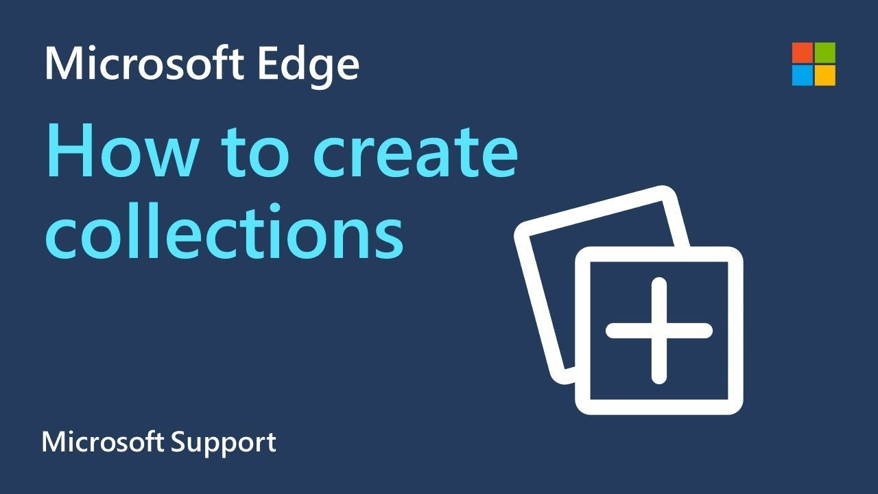How to create a collection in Microsoft Edge