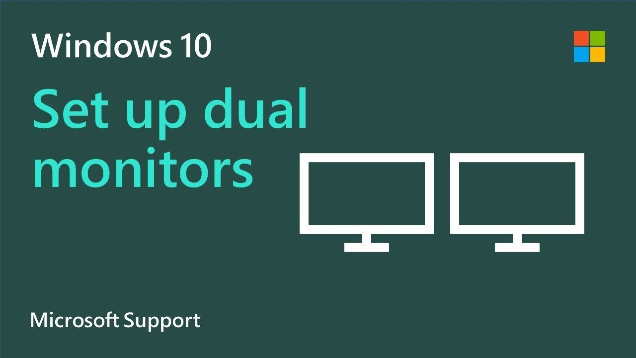 How to set up multiple monitors on Windows 10