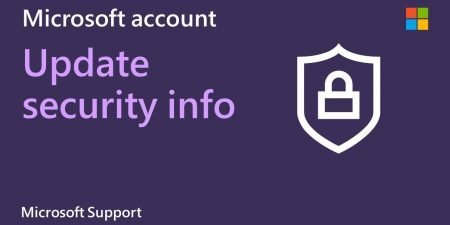 How to update your Microsoft account security information