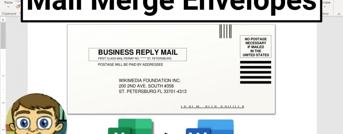 Mail Merge Envelopes in Microsoft Word