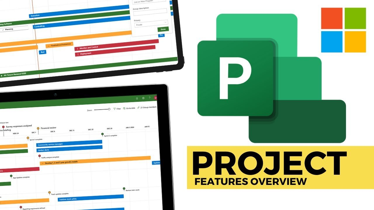Microsoft Project 2020: Project Management Overview