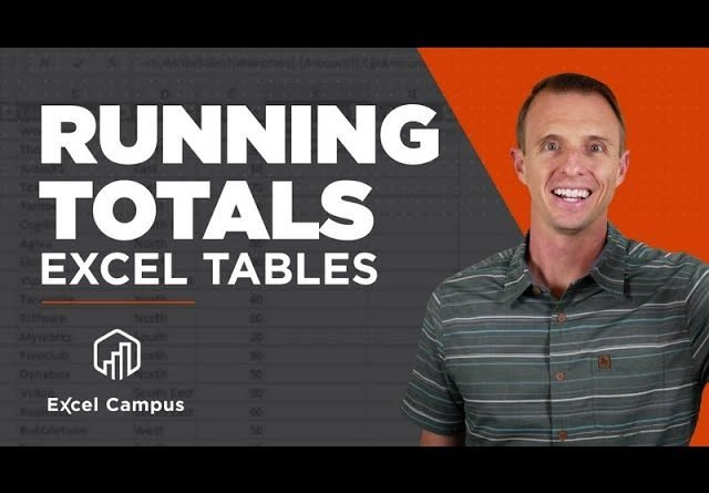 Running Totals in Excel Tables - The Easy Way