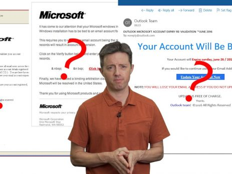 Staying safe from email & chat scams