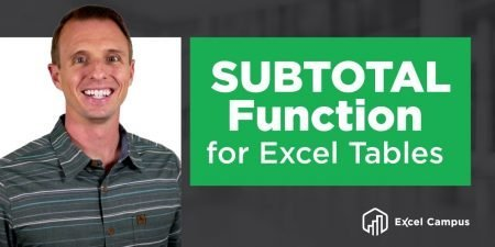 The SUBTOTAL Function Explained for Excel Tables Total Row