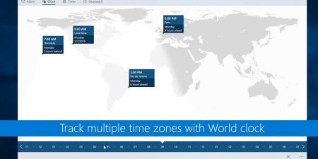 Track multiple time zones with world clock