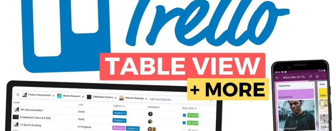Trello Adds Table View & Lots More...