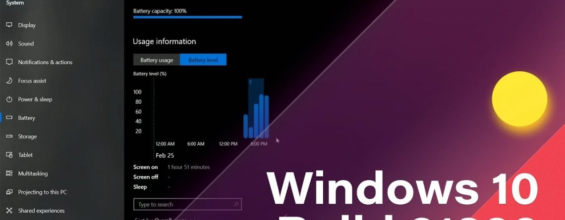 Windows 10 Build 21322 - Improved Animations, Battery Usage Graphs + MORE